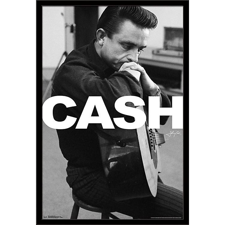 Trends InternationalJohnny Cash - Cash PosterFramedSilver