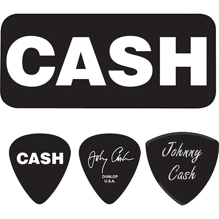 DunlopJohnny Cash Bold Pick Tin with 6 PicksMedium