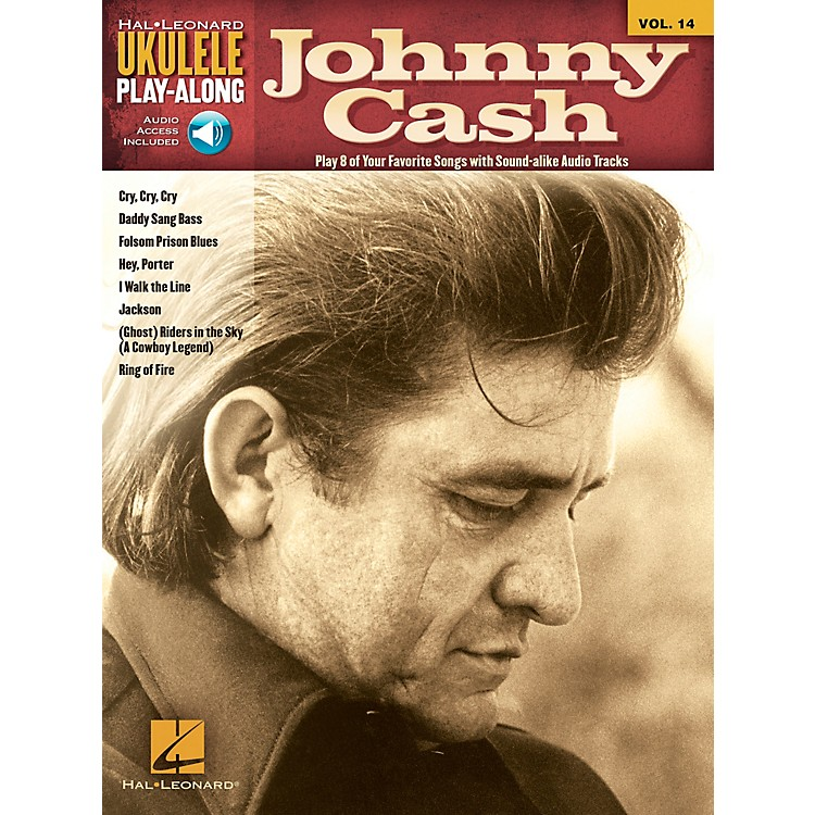 Hal Leonard Johnny Cash Ukulele Play-Along Volume 14 Book/CD