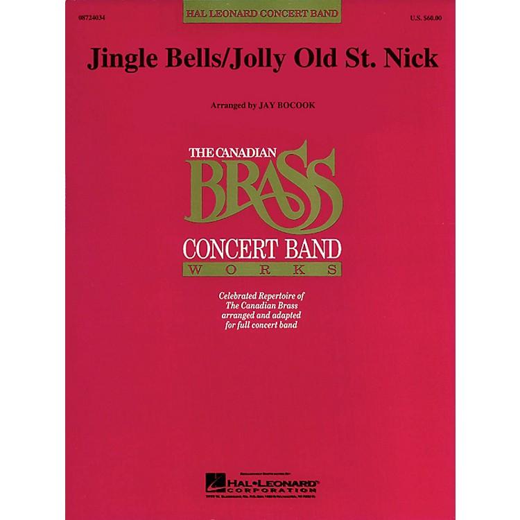 Hal LeonardJolly Old St. Nick/Jingle Bells Concert Band Level 3 Arranged by Jay Bocook