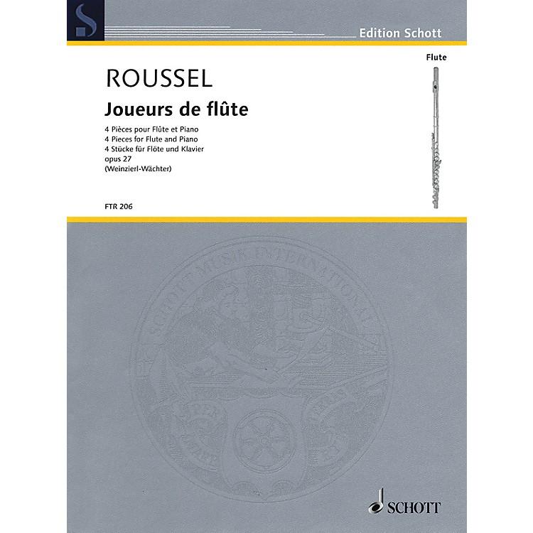SchottJoueurs de flûte (Four Pieces, Op. 27 Flute and Piano) Woodwind Series