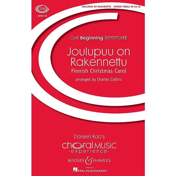 Boosey and HawkesJoulupuu On Rakennettu (Christmas at the Threshold) Unison Treble arranged by Charles Collins