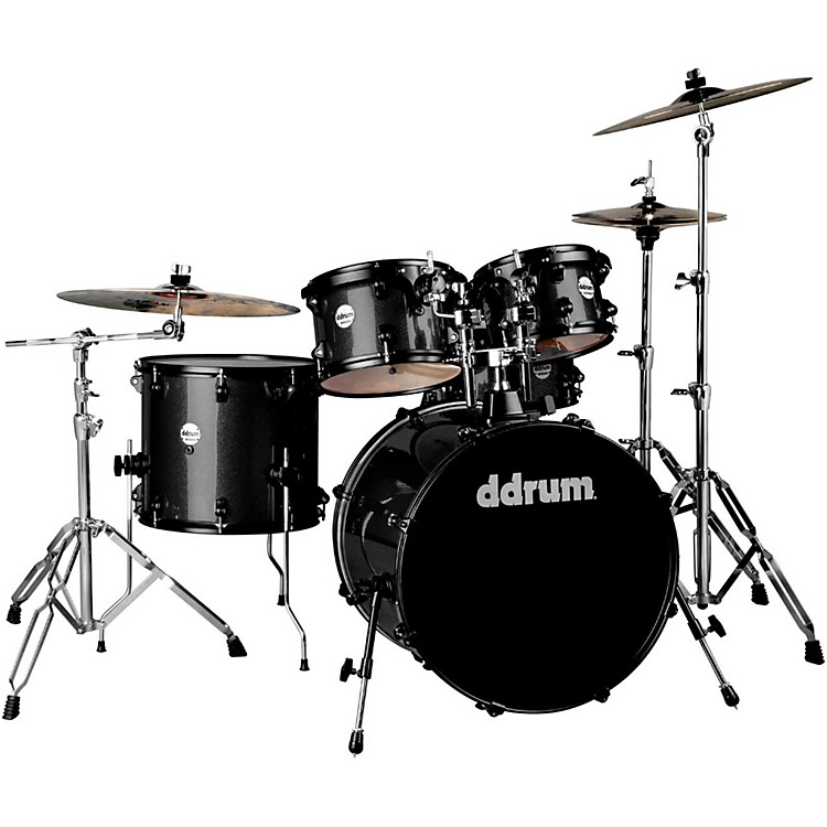 Ddrum Journeyman2 Series Player 5-piece Drum Kit with 22 in. Bass Drum Black Sparkle