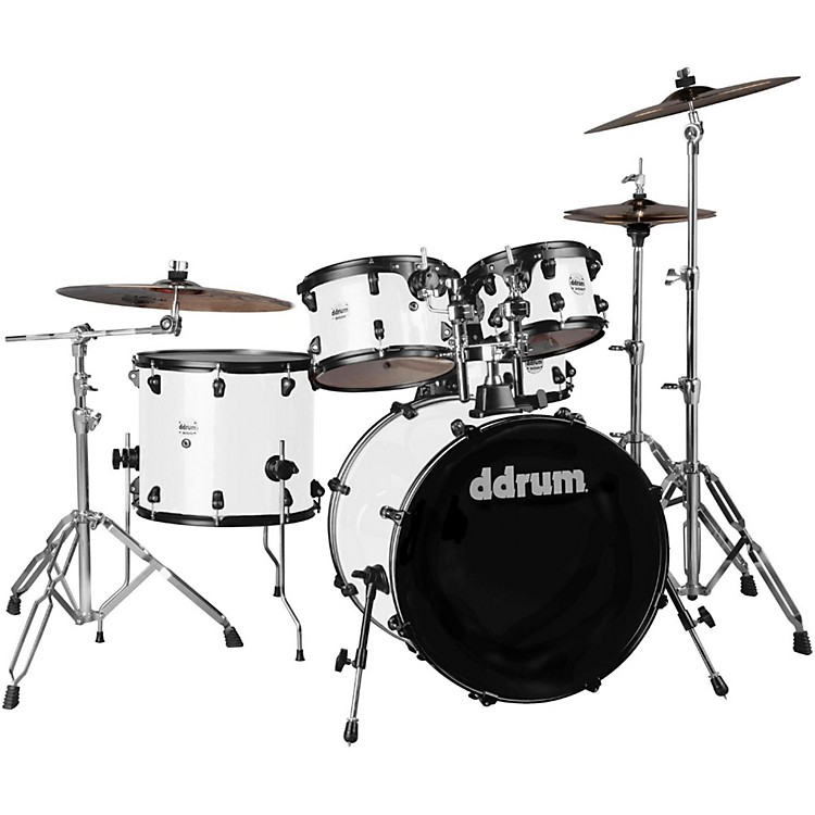 Ddrum Journeyman2 Series Player 5-piece Drum Kit with 22 in. Bass Drum White