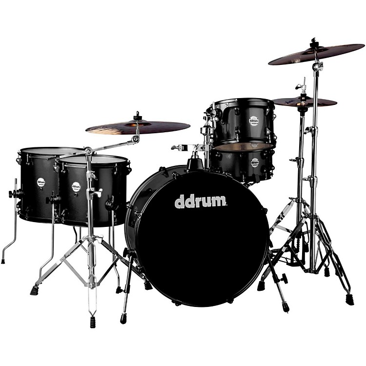 Ddrum Journeyman2 Series Rambler 5-piece Drum Kit with 24 in. Bass Drum Black Sparkle