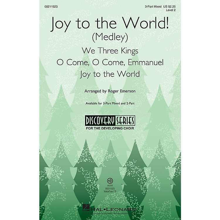 Hal LeonardJoy to the World! (Medley) (Discovery Level 2) VoiceTrax CD Arranged by Roger Emerson