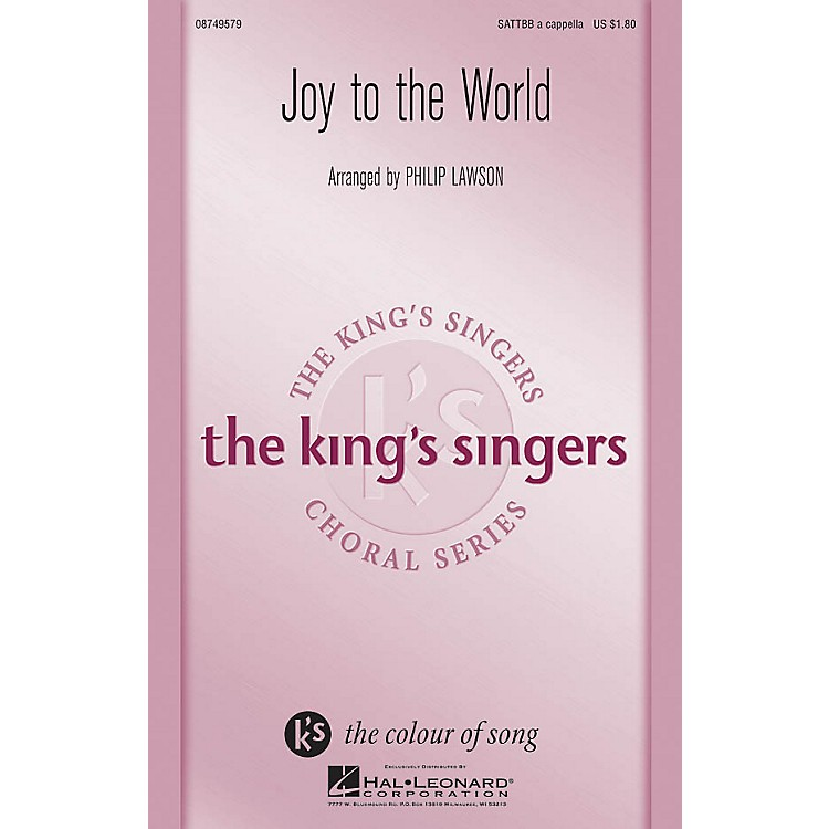 Hal LeonardJoy to the World SATTBB A Cappella by The King's Singers arranged by Philip Lawson