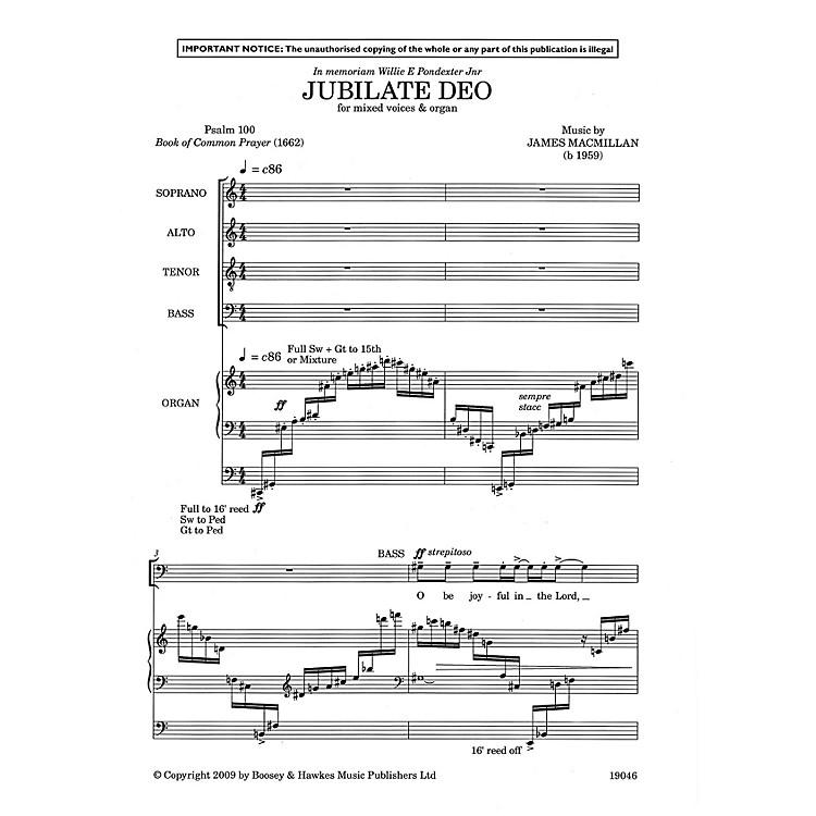 Boosey and HawkesJubilate Deo SATB, Organ composed by James MacMillan