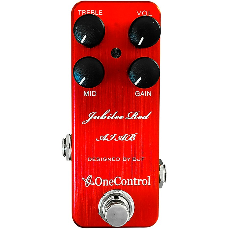 One ControlJubilee Red Distortion Effects Pedal
