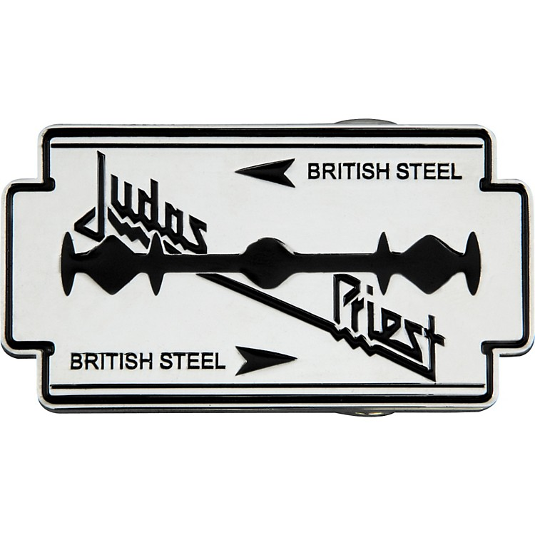 Bravado Judas Priest British Steel Belt Buckle Music123