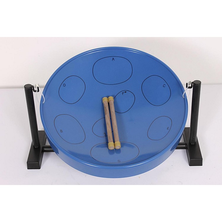 Panyard Jumbie Jam Educator's Steel Drum 4-Pack with Floor Stands Bl 886830942242