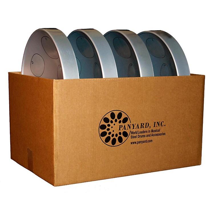 PanyardJumbie Jam Educator's Steel Drum 4-Pack with Floor StandsSilver