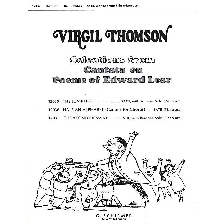 G. SchirmerJumblies W/soprano Solo & Piano Accompaniment SATB composed by Virgil Thomson