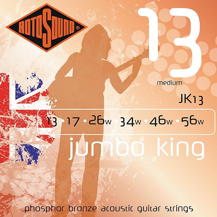 RotosoundJumbo King Medium Phosphor Bronze Acoustic Guitar Strings