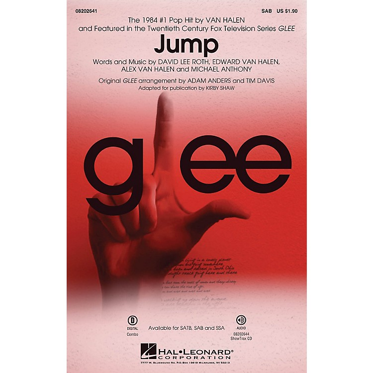 Hal Leonard Jump (from Glee) SAB by Van Halen arranged by Adam Anders