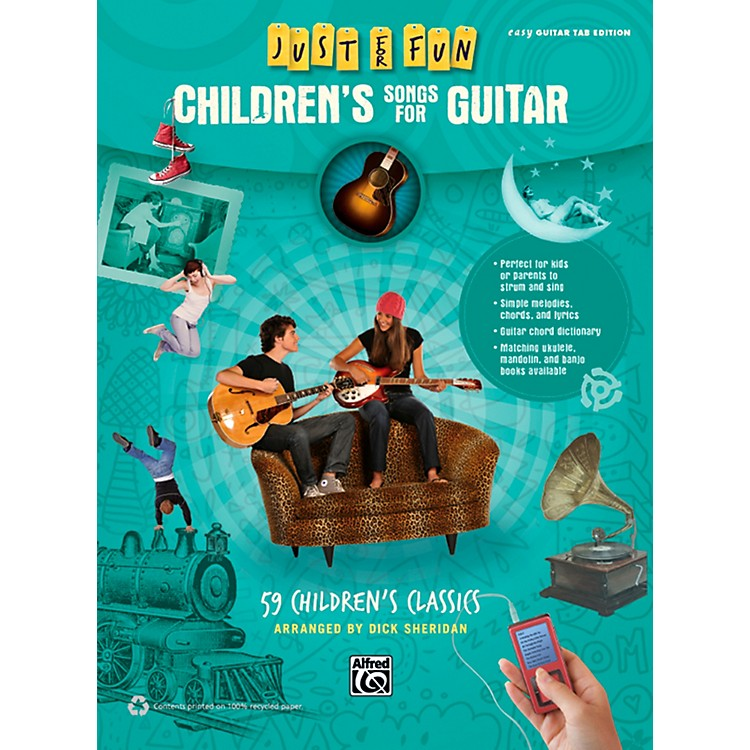 AlfredJust for Fun Children's Songs for Guitar Easy Guitar TAB Book