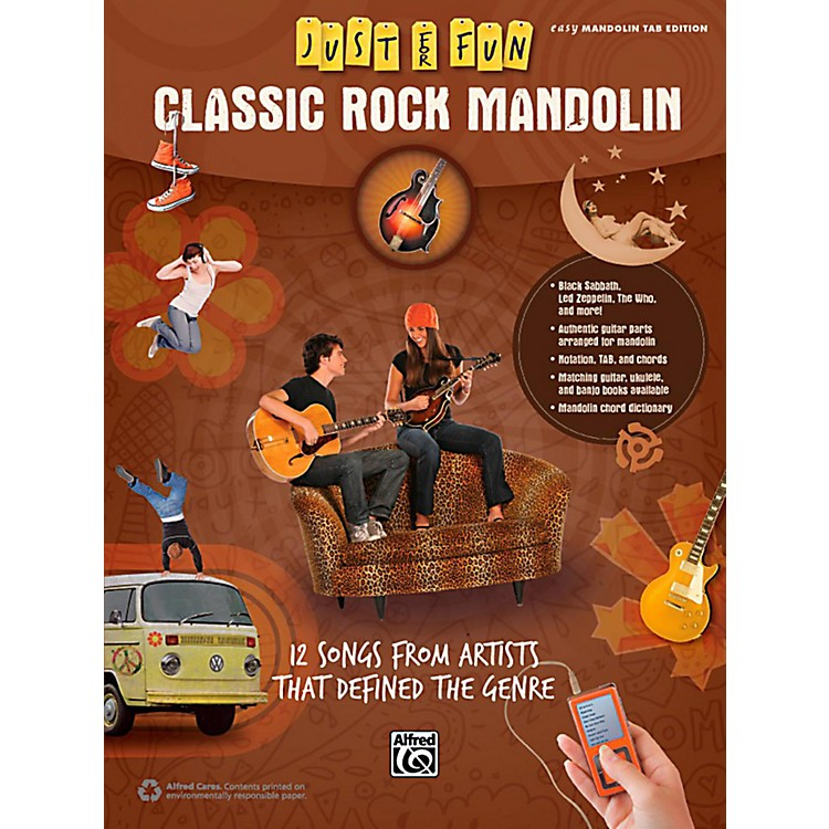 AlfredJust for Fun Classic Rock Mandolin Book