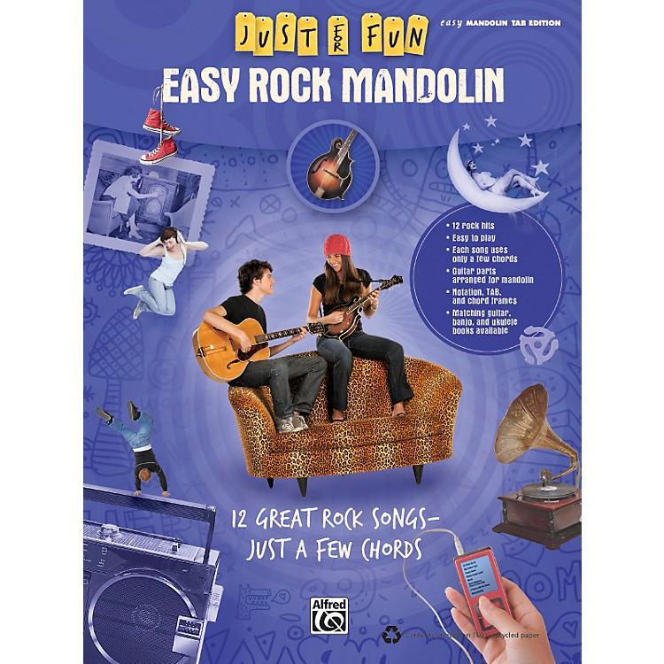 AlfredJust for Fun: Easy Rock Mandolin (Book)