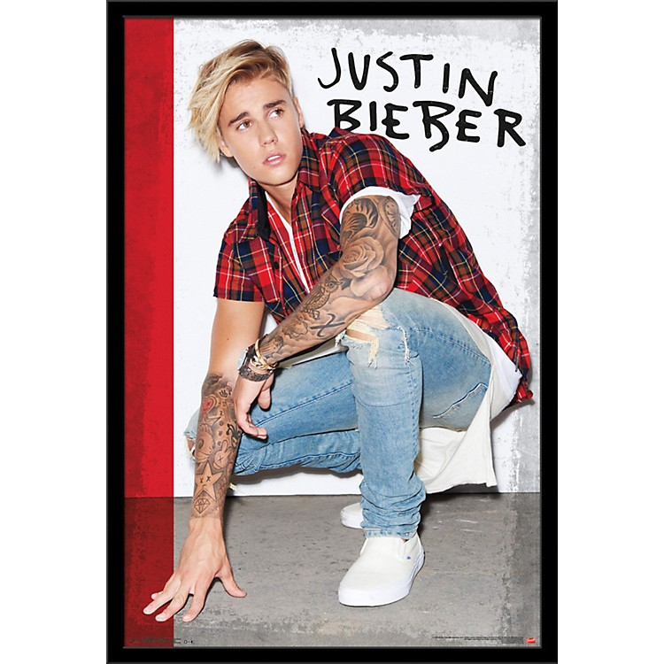 Trends InternationalJustin Bieber - Flannel PosterFramedBlack