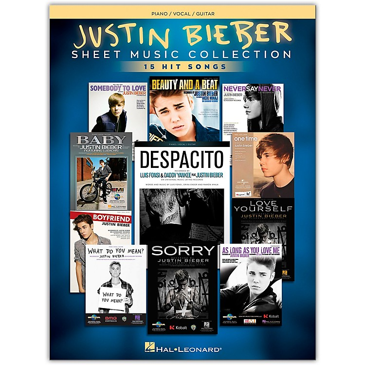 Hal LeonardJustin Bieber - Sheet Music Collection 17 Hit Songs Piano/Vocal/Guitar Songbook