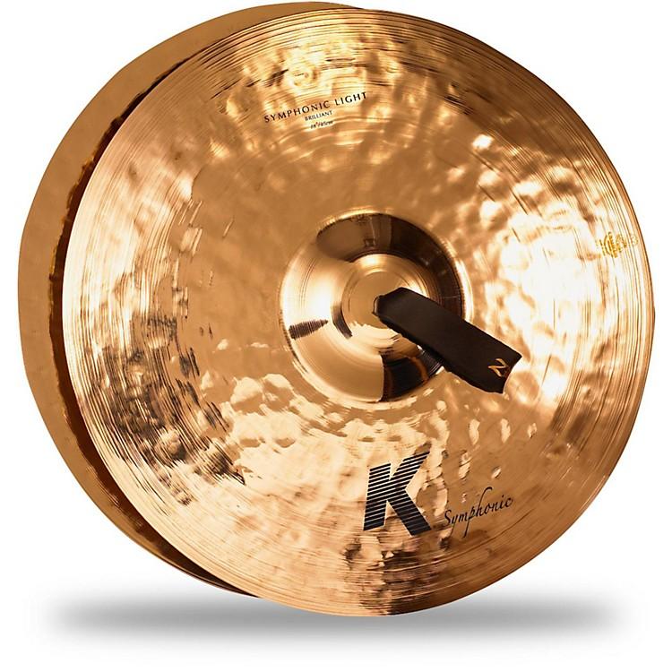 ZildjianK Symphonic Orchestral Light Brilliant Crash Cymbal Pair18 in.Brilliant
