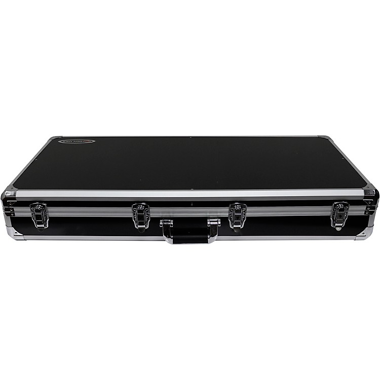 OdysseyK10PT01BLK Black DJ Coffin for Two Numark PT01 Scratch Turntables and A Compact 10