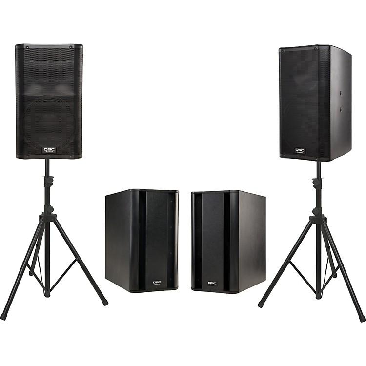 QSCK12 Powered Speaker Dual Sub Package