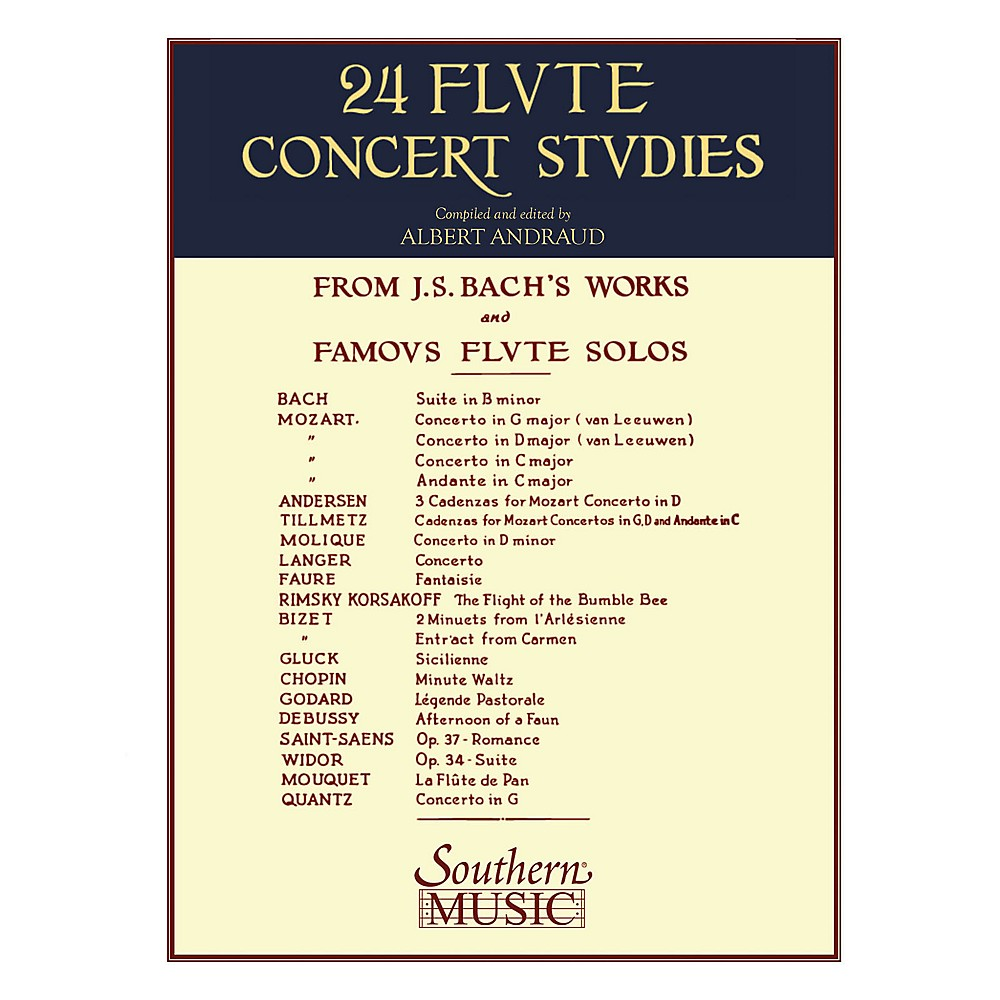 24 Flute Concert Studies Famous Flute Solos Works by Bach Mozart and m 003770628