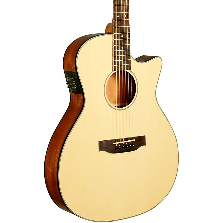 KalaKA-GTR-MTN-E Thinline Nylon String Acoustic-Electric GuitarrNatural
