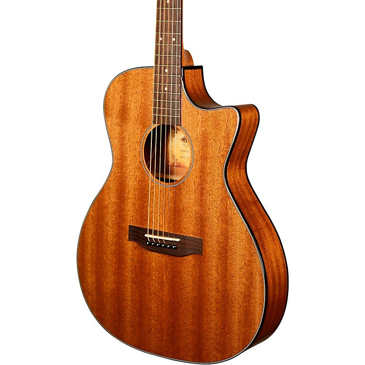 Kala KA-GTR-MTS-E Thinline Mahogany Acoustic-Electric Guitar Natural