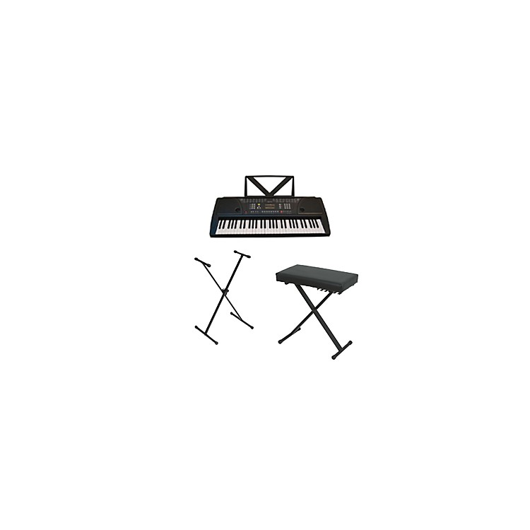 HuntingtonKB61 Portable Keyboard w/ Stand and Bench