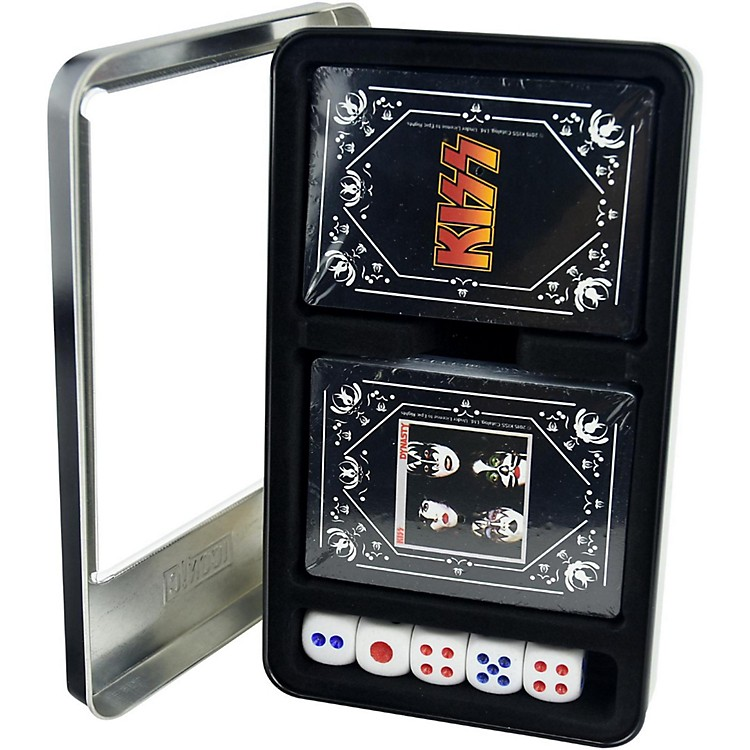 Iconic ConceptsKISS - Dynasty/KISS Logo Double Deck Playing Card Set with Dice in Tin Box