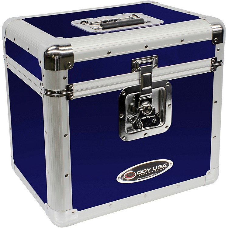 OdysseyKLP2BLU Stackable Record Utility Case for 12