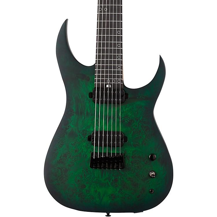 Schecter Guitar ResearchKM-7 MK-III Standard Burl Top 7-String Electric GuitarToxic Smoke Green