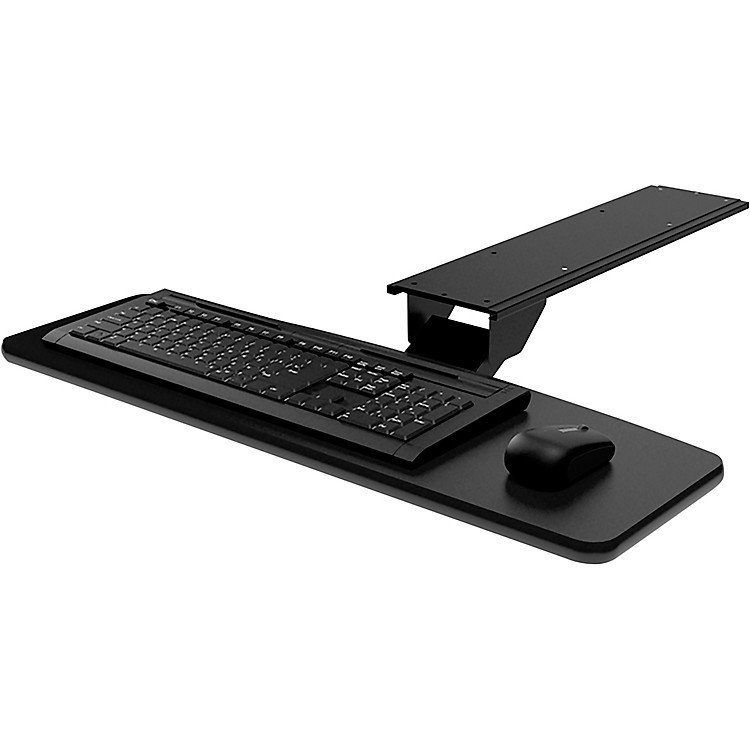OmniraxKMSOM Adjustable Computer Keyboard Mouse Shelf - Black