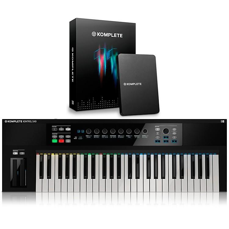 native instruments komplete kontrol s49 keyboard controller with komplete 11 music123. Black Bedroom Furniture Sets. Home Design Ideas