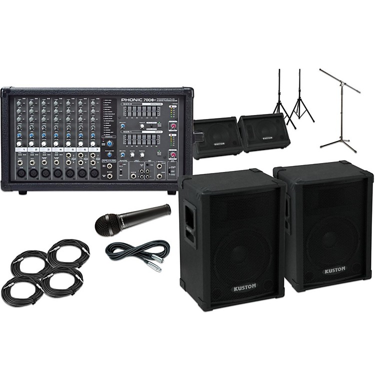 Kustom PAKPC12 with Phonic Powerpod 780 Mains and Monitors Package