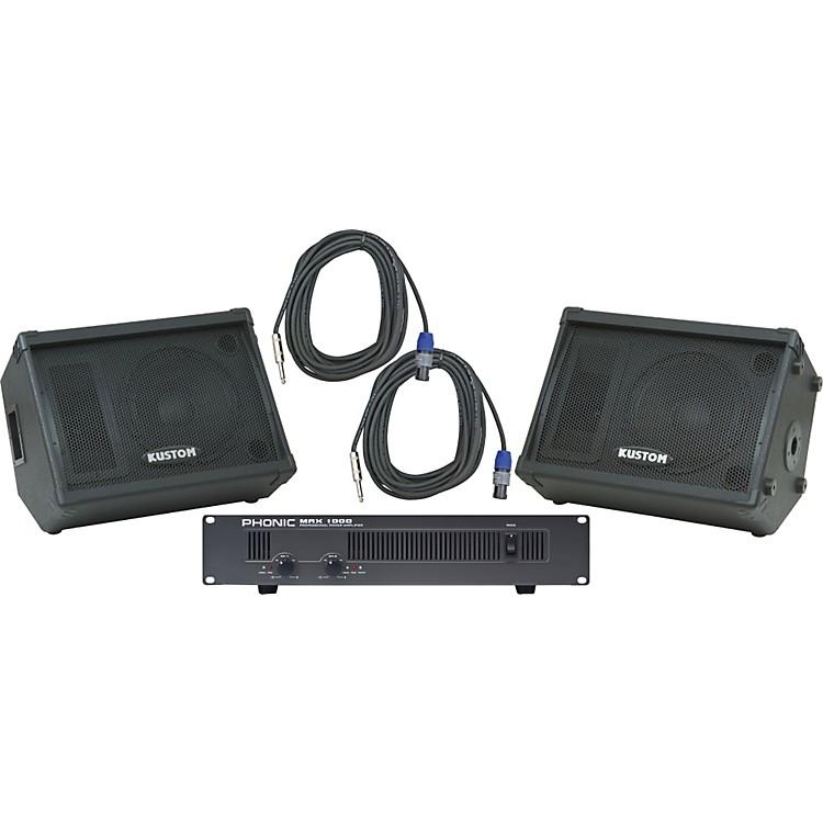 Kustom PAKPC12M / Phonic MAX 1000 Spkr & Amp Package