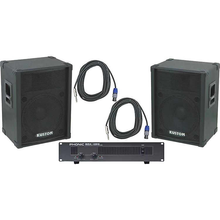 Kustom PAKPC15 / Phonic MAX 1000 Spkr & Amp Package