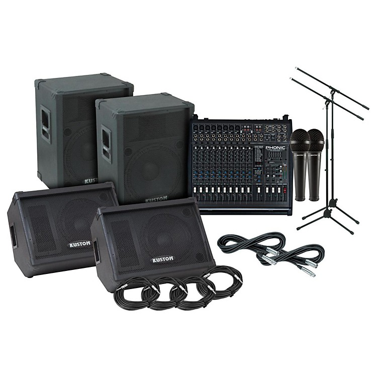 Kustom PA KPC15 Phonic 1860 PA/Monitor Package