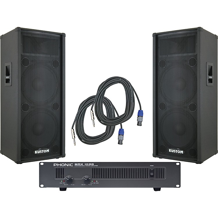 Kustom PAKPC215H / Phonic MAX 1600 Spr & Amp Package