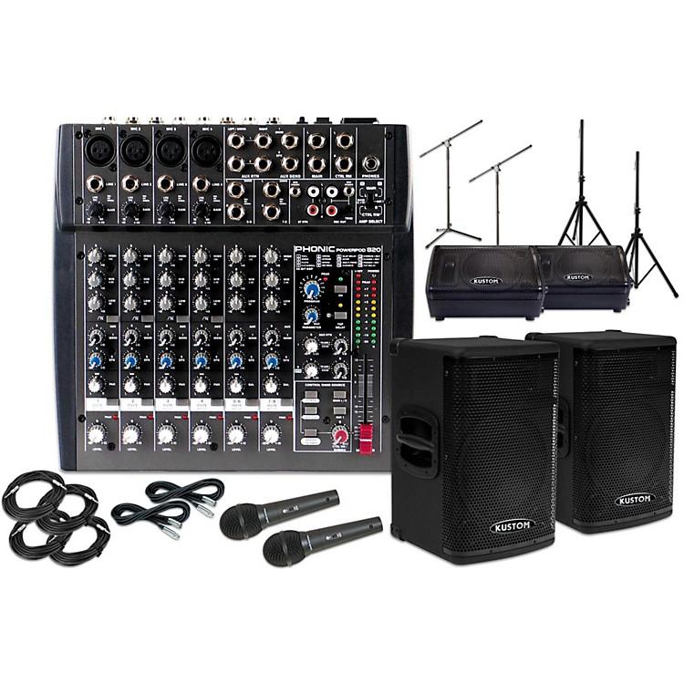 Kustom PAKPX115 with Phonic Powerpod 820 and 10
