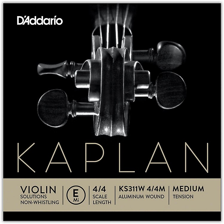 D'Addario KS 311W Kaplan Solutions 4/4 Size Non-Whistling Violin E String (Wound)