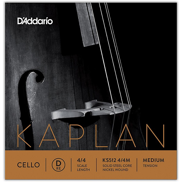D'Addario KS512 Kaplan Solutions 4/4 Cello D String 4/4 Size Light