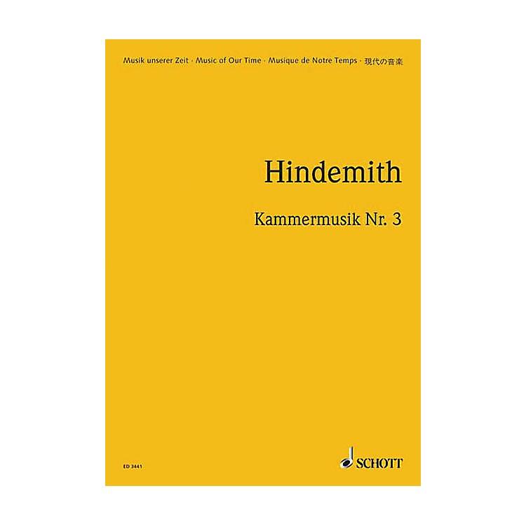 SchottKammermusik #3 Op. 36, No. 2 (Study Score) Schott Series Composed by Paul Hindemith