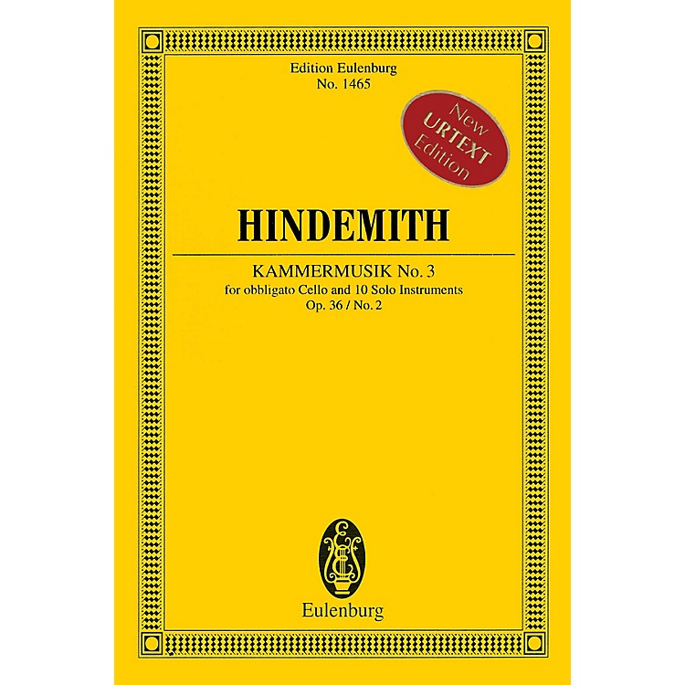 EulenburgKammermusik No. 3, Op. 36, No. 2 Schott Series Softcover Composed by Paul Hindemith