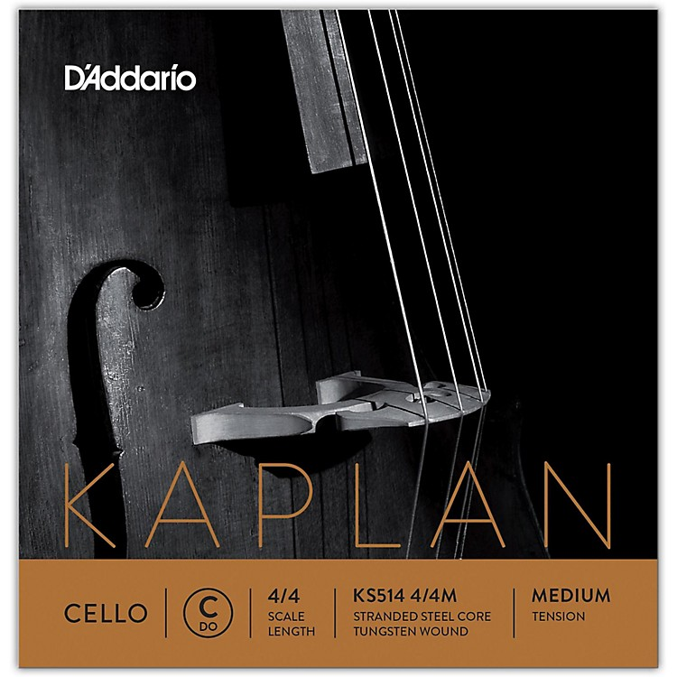 D'Addario Kaplan Series Cello C String 4/4 Size Medium