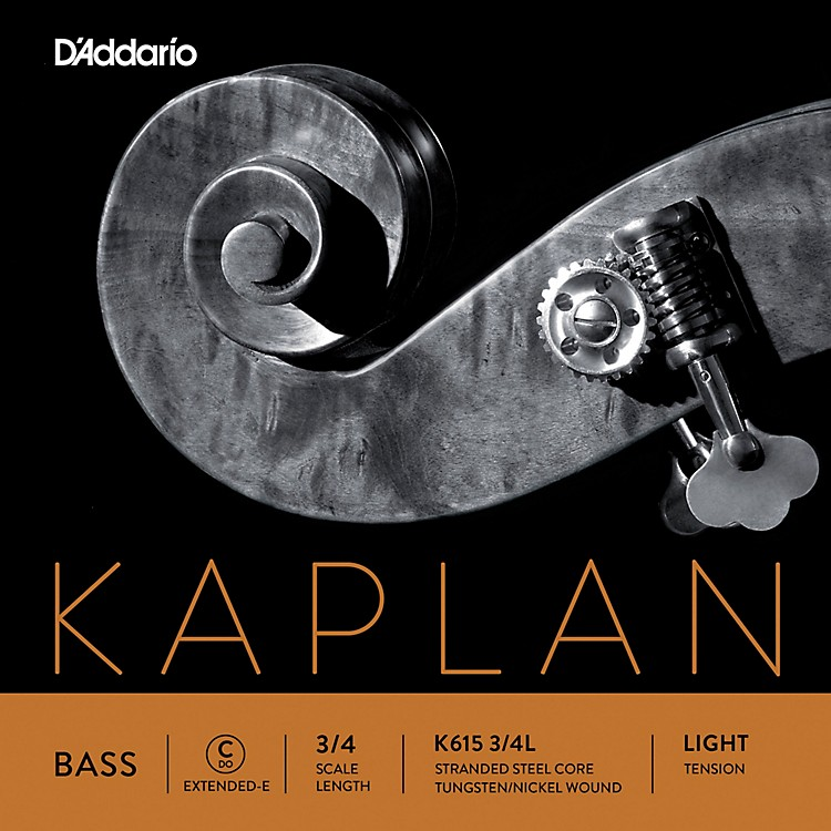 D'Addario Kaplan Series Double Bass C (Extended E) String 3/4 Size Light