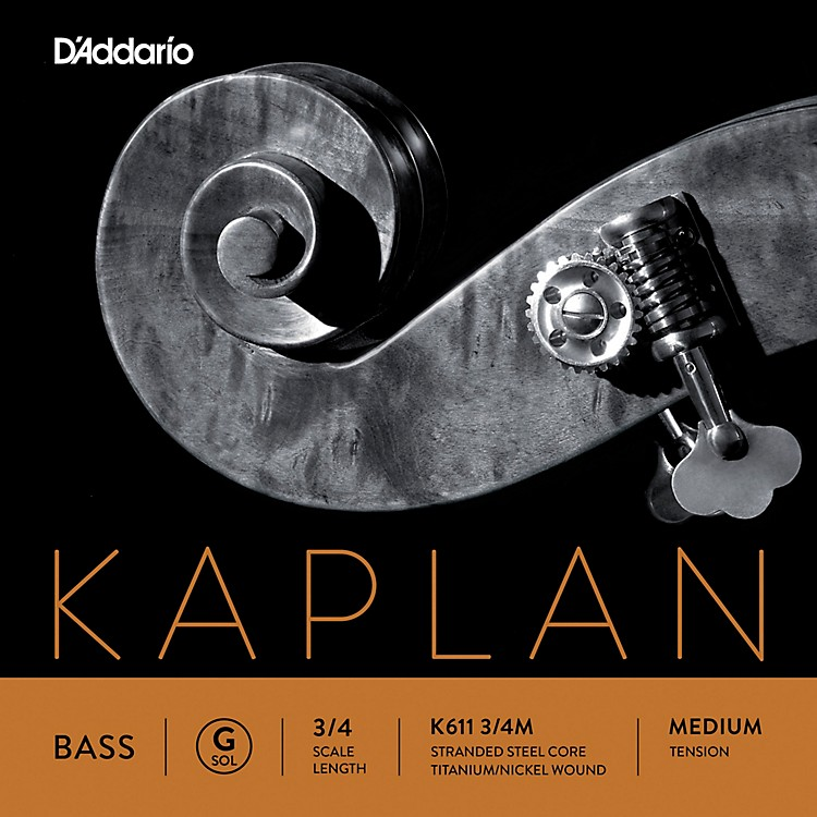 D'Addario Kaplan Series Double Bass G String 3/4 Size Light