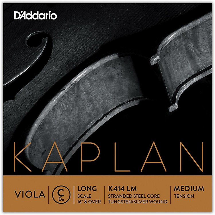 D'Addario Kaplan Series Viola C String 16+ Long Scale Medium